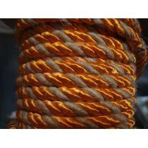 Acetat-Kordel  6mm orange/natur