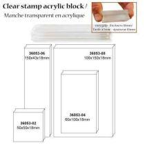 Acrylblock für Clearstempel klein 5X6CM
