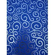 Bastel-Karton Milano Elegance A4 blau silber