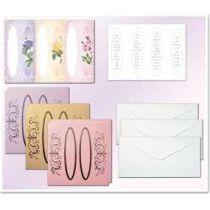 Bastel-Set Fensterkarten 3, Blumen