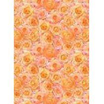 Bastelkarton Rosen, 220 g/qm, lachs 50x70cm