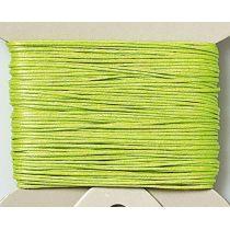 Baumwollkordel, gewachst, 1mm, SB-Karte 20 m, h.grün
