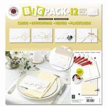 Big Pack Karten mit Herzen, Stanzbogen  beidseitig bedruckt 12 Karten