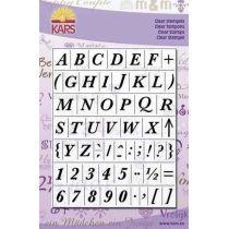Clearstamp Alphabet Baskerville Gross 14X18CM