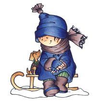 Clearstamp Snoesjes Einfrierende Kälte