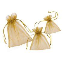 CREApop® Organza-Säckchen gold 8 x 10 cm, Beutel a 12 Stück