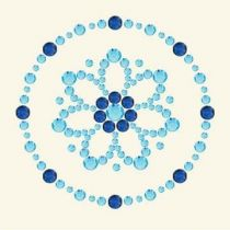 Designer rhinestones daisy  6,5X9,6CM