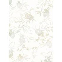 Designpapier Silberblumen