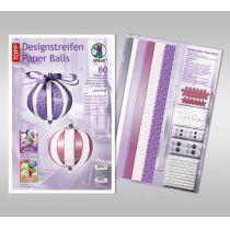 Designstreifen Paper Balls Set Jasmine