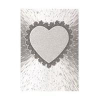 Doppelkarten SB, Großes Herz, silber