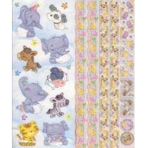 Embossed Sticker Tiere 2