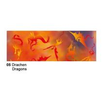 Extra starkes Transparent Papier 50 x 61 cm , Fauna, 115 gr, Motiv 05 Drachen