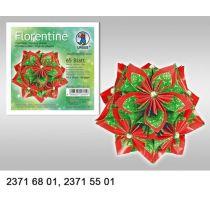 Faltblätter Florentine Weihnachtsstern 80g/m² 15 x15 cm