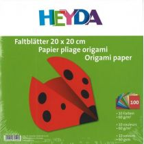 Faltblätter Origami Kusudama 20x20cm uni 100 Blatt; 10 Farben