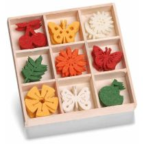 Filzbox Ornament Obst Schmetterling Blume