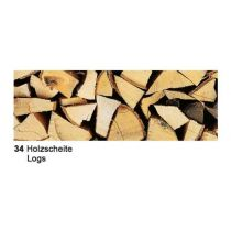 Fotokarton Holzscheite  49,5 x 68 cm