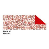 Fotokarton Jule  49,5 x 68 cm rot Motiv 2