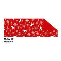 Fotokarton Jule  49,5 x 68 cm rot Motiv 3