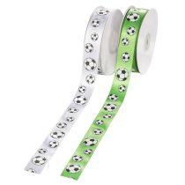Fußballband, 25 mm, weiß oder grün