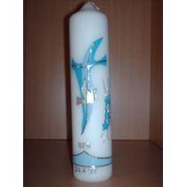 handgearbeitete Taufkerze Kreuz,Taube und Blumen individuell nach Ihren Wünschen handarbeit