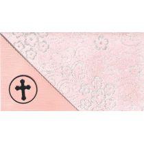 handmade lang Karte mir Blumenmotiv silber