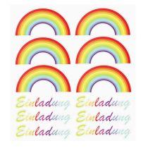 HOBBY-Design Sticker Einladung mit Regenbogen