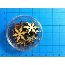 Holz Eiskristall 20mm in Dosen