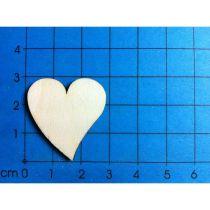 Holz Kleinteile gelasert Herz 2 ver. Sorten