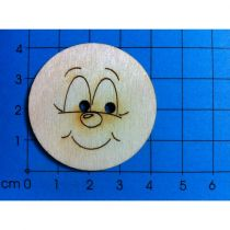 Holzknopf Gesicht Design 5
