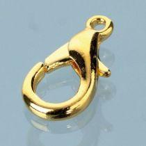 Karabinerschliesse, 11 mm  gold oder silber