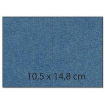 Karte A5 / C6 / Umschlag C6  Rechteck metallic saphirblau