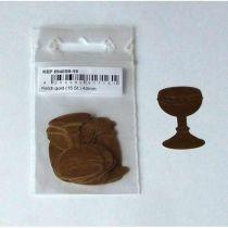 Kelch offen 30 mm Tonpapier
