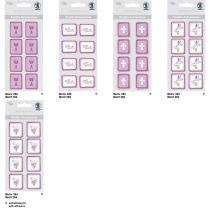 Kreativ Sticker Taube Serie Glory, brombeer, selbstklebend