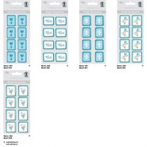 Kreativ Sticker Weinrebe Serie  Glory, petrol, selbstklebend