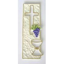 Kreuz mit Kelch und Traube