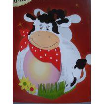 Laternen Bastel-Set rund Kuh