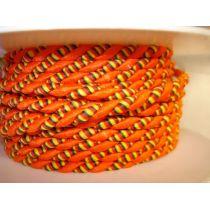 Lurexkordel 4mm orange/gelb rot grün gestreift