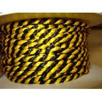 Lurexkordel 4mm schwarz/gelb