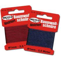 Lüstrierte Baumwollschnüre-SB Ware 2mm / 1,5M