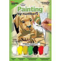 Malen nach Zahlen Labrador mini 12,7X17,8