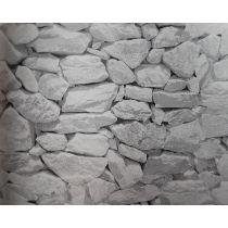 Motivkarton Steinwand weiß 49,5 x 68 cm