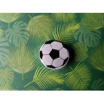 Motivperle Fussball Farbe: silber