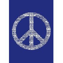 My style Schablone: Peace A4