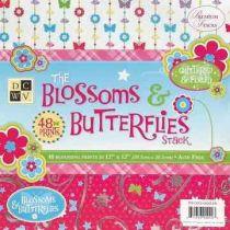 Paper stack Blossom&butterflies 30,5X30,5 cm 48 Bogen