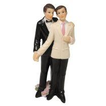 Polyresin-Hochzeitspaar Männer, 10,5 cm