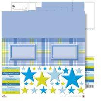 Pop up Karte blaue Sterne