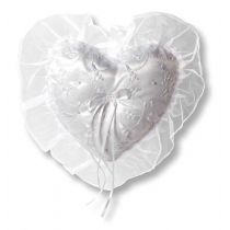 Ringkissen Herz mit Stickereien