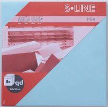 S-Line 5 Kuverts quadratisch Farbe: hellblau