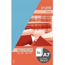 S-line A6 Karte, passendes Kuvert und Briefbogen je 5 Stück - enzian
