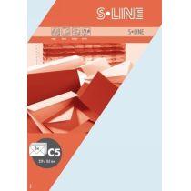 S-line A6 Karte, passendes Kuvert und Briefbogen je 5 Stück - hortensie